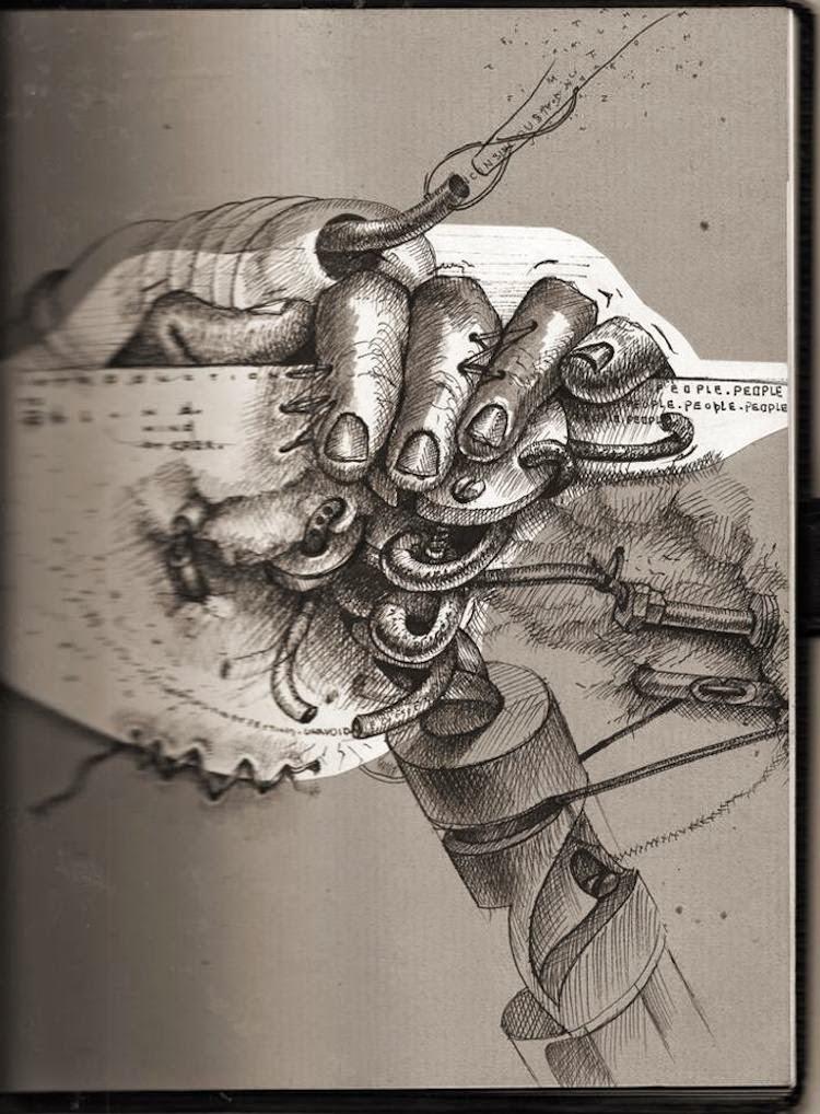 © Samuel Gómez   Ilustración   grafito   arte a un click   A1CGalería