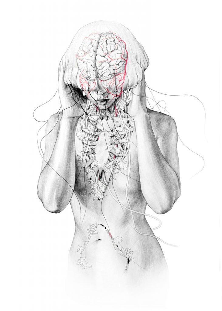 © Elisa Ancori | Five mermaids | Jellyfish | Donia Hamzaoui  | MUJERES MIRANDO MUJERES | MMM | arte a un click | A1CProyectos