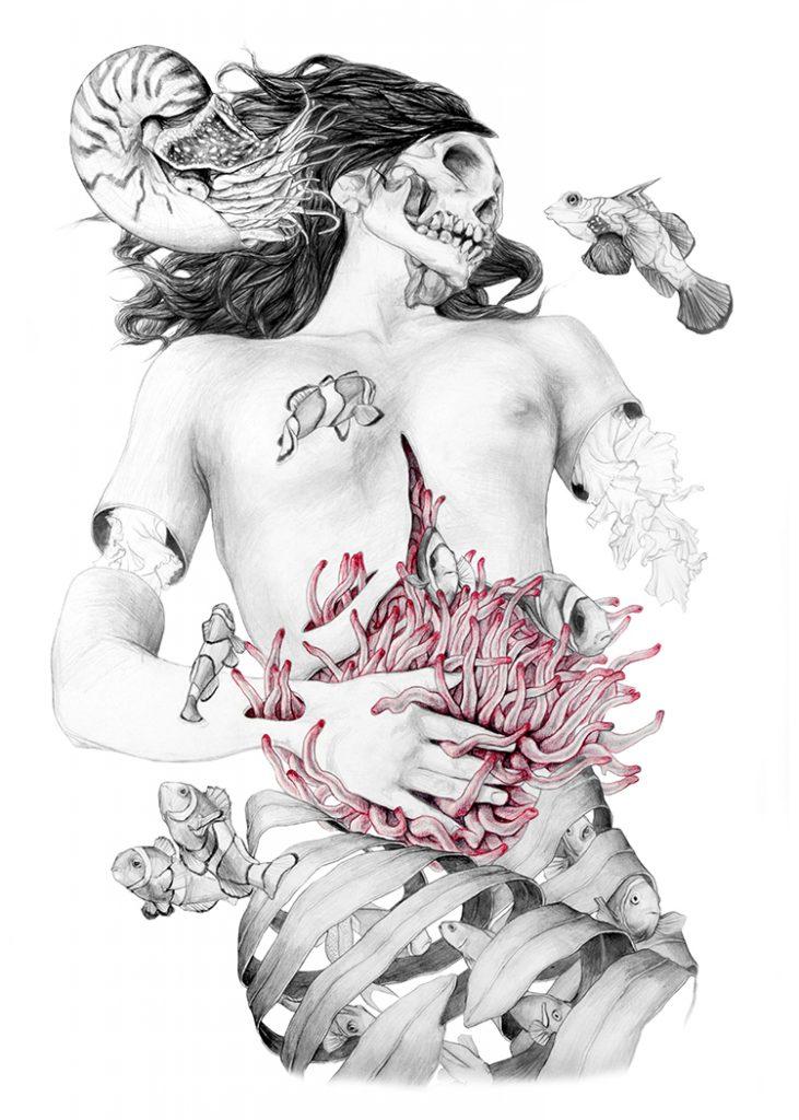 © Elisa Ancori | Five Mermaids | Donia Hamzaoui  | MUJERES MIRANDO MUJERES | MMM | arte a un click | A1CProyectos