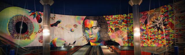 © Rosh333 | © Okuda | Entre dos universos | Paco de Lucía | Metro Madrid | Linea Zero | Madrid Street Art Project | arte a un click | A1CExpos