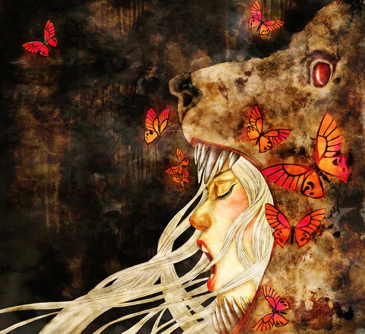 © Khola Le   ilustración   arte digital   surrealismo   Arte a un Click   A1CGalería+