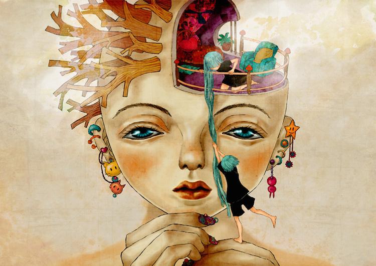 © Khola Le   ilustración   arte digital   surrealismo   Arte a un Click   A1CGalería