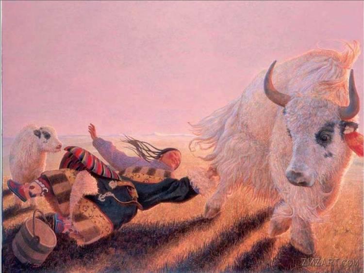 © Wang Yi Guang   pintura   figuración   arte a un click   A1CGalería