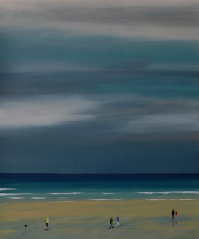 © Rosalba Arcilla | PORTHMEOR BEACH, VERKAUFT | Galería Montsequí | exposición 2015 | arte a un click | A1CExpos