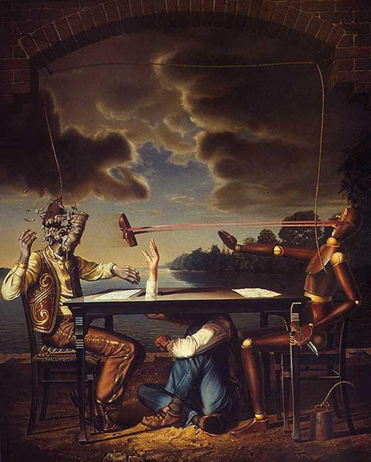 © Siegfried Zademack   pintura   surrealismo   realismo mágico  crítica social   arte a un click   A1CGalería