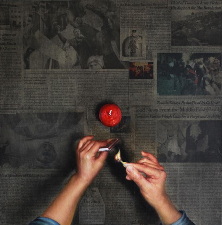 © ShinYoung An   pintura   retrato   periódico   arte a un click   A1CGalería