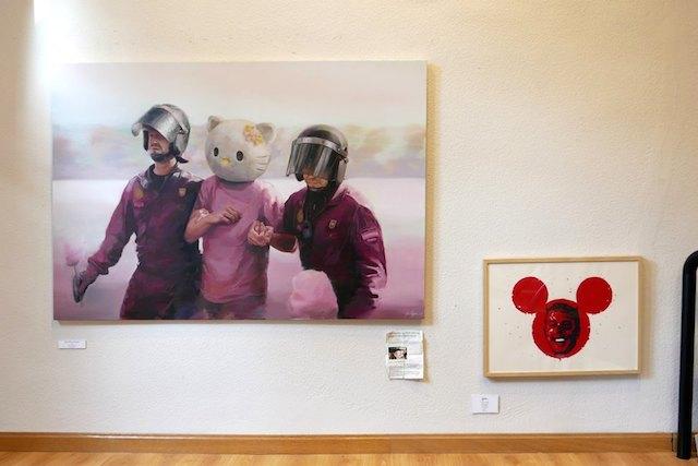 © José Salguero | Terror en el parte de atracciones | pintura | exposiciones 2015 | Swinton Gallery | arte a un click | A1CExpos