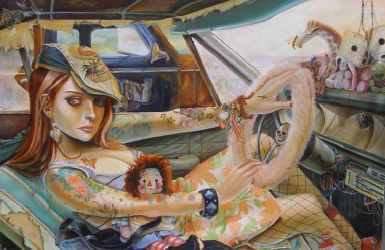 © Leslie Ditto | pintura | ilustración | lowbrow | arte a un click | A1CGalería