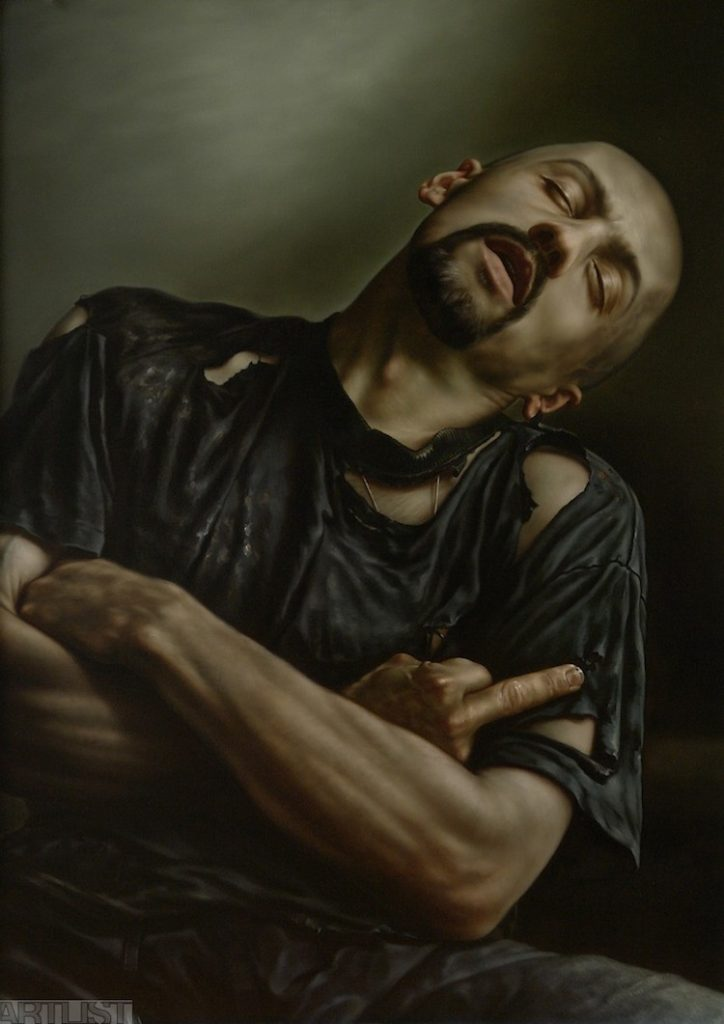 © Karel Balcar | pintura | hiperrealismo | sadomasoquismo | bondage | arte a un click | A1CGalería