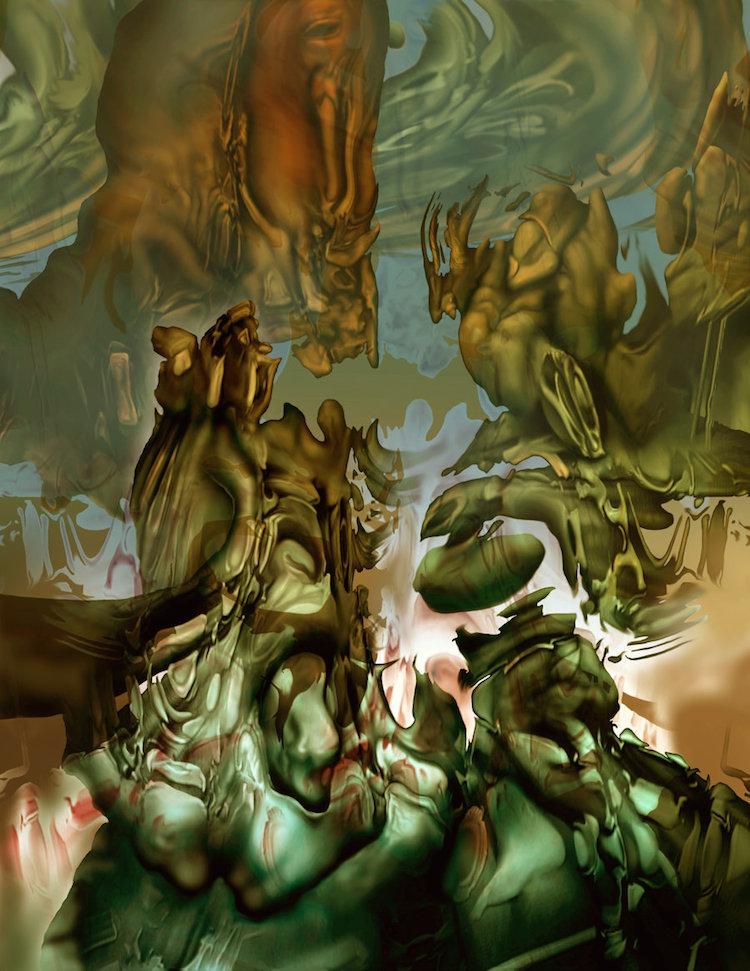 © Bernard Dumaine   pintura   pintura digital   arte digital   surrealismo   arte a un click   A1CGalería