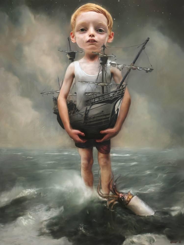 © Richard J. Oliver   pintura  surrealismo pop   lowbrow   Arte a un Click  A1CGalería