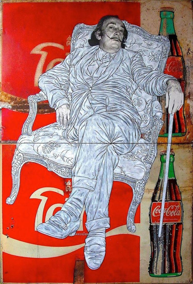 © Pakpoom Silaphan | pintura | collage | Arte a un Click | A1CArtes