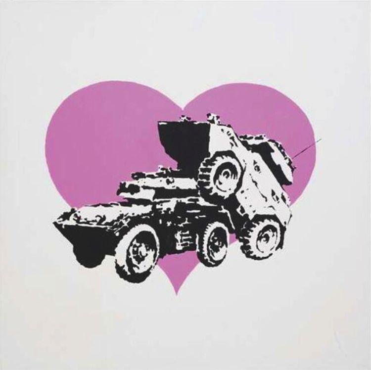 © Banksy | Every time I make love to you I think of someone else | Vroom&Varossieau | Urvanity | Arte a un Click | A1CFerias