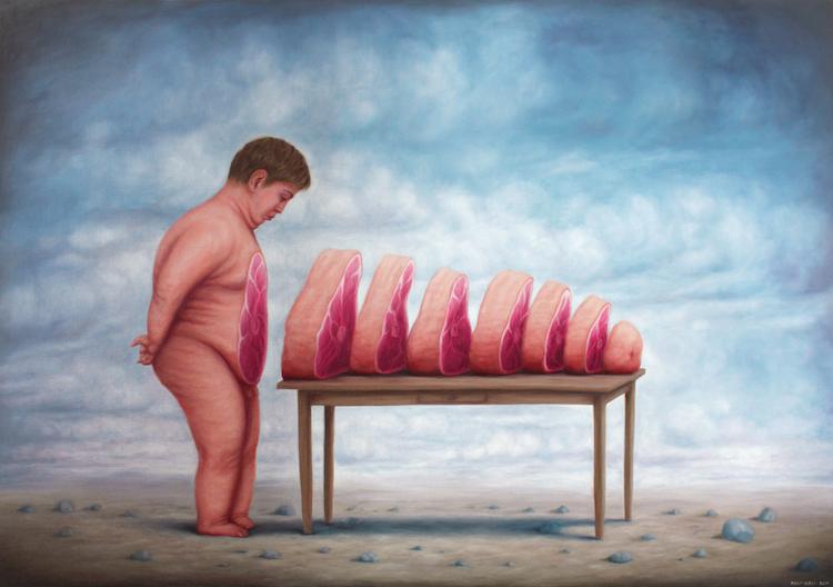 Bruno Pontiroli | Le ventre Ö table | Fousion Gallery | Urvanity | Arte a un Click |A1CFerias