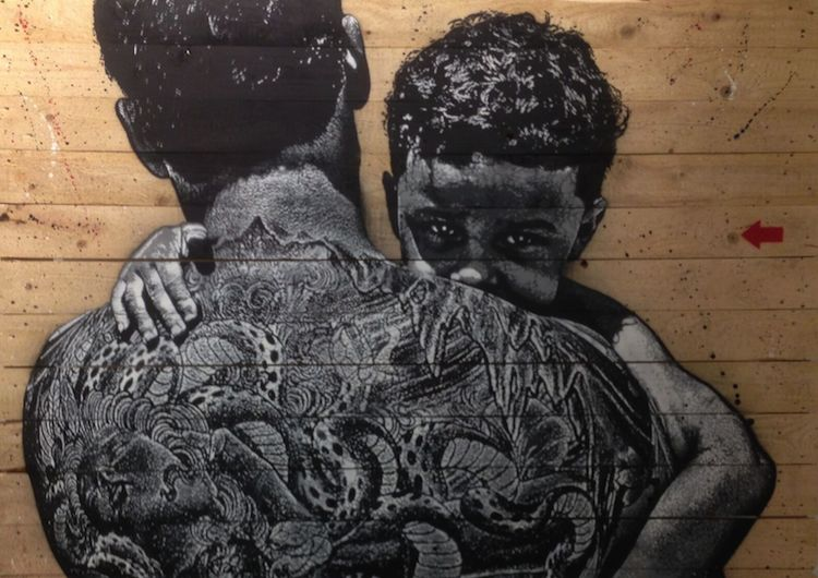 © Jef Aérosol | Father and son | Galerie Martine Ehmer| Urvanity | Arte a un Click |A1CFerias