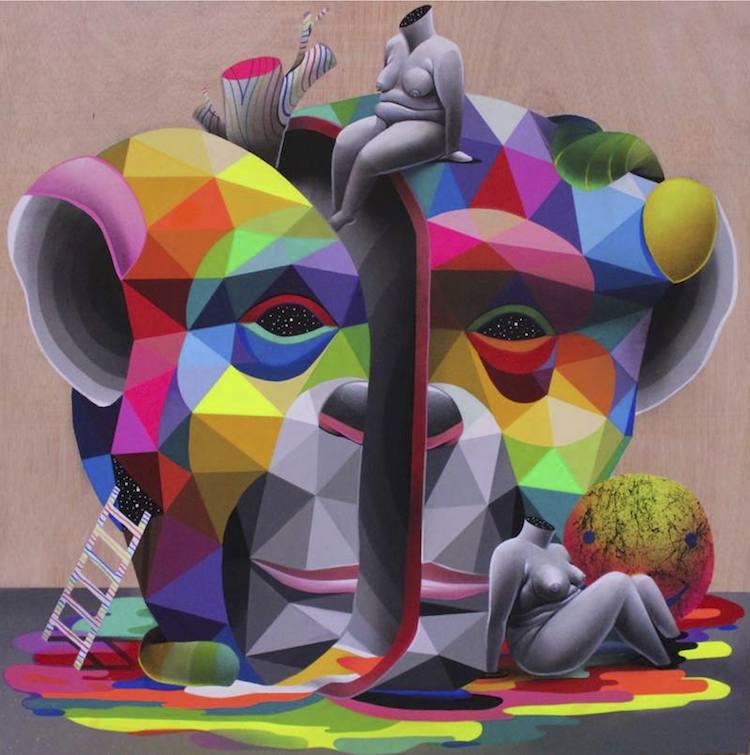 © Okuda San Miguel | Kreisler | Art Madrid 17 | Arte a un Click | A1CFerias