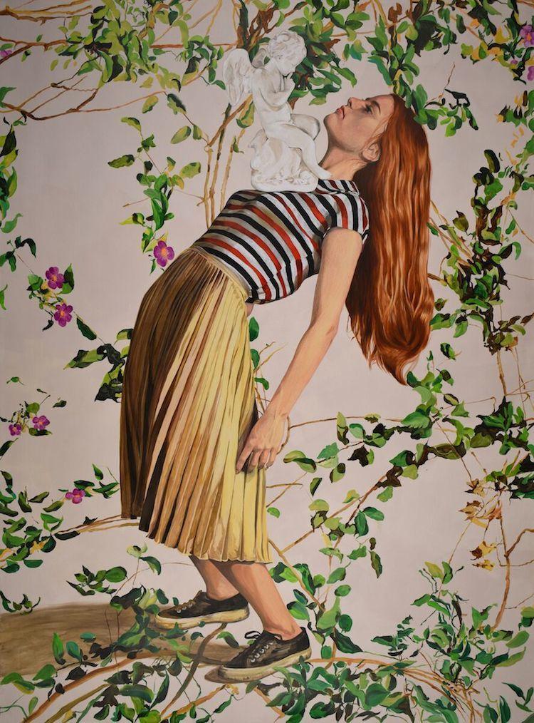 © Angeles Agrela. Lucía y Cupido, 2016. Galería Yusto Giner | Drawing Room Madrid | Arte a un Click |A1CFerias