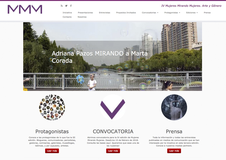 Mujeres Mirando Mujeres | Web |Arte a un Click