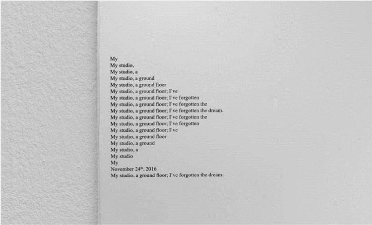 Itziar Okariz | Uno, uno, dos, uno... 2012. Transcripción gráfica de la performance