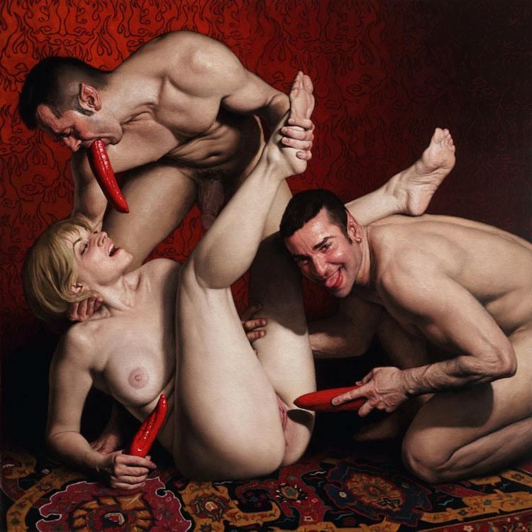 © Carlos Barahona Posollo | Claroscuro | Erotismo | pintura | Arte a un Click