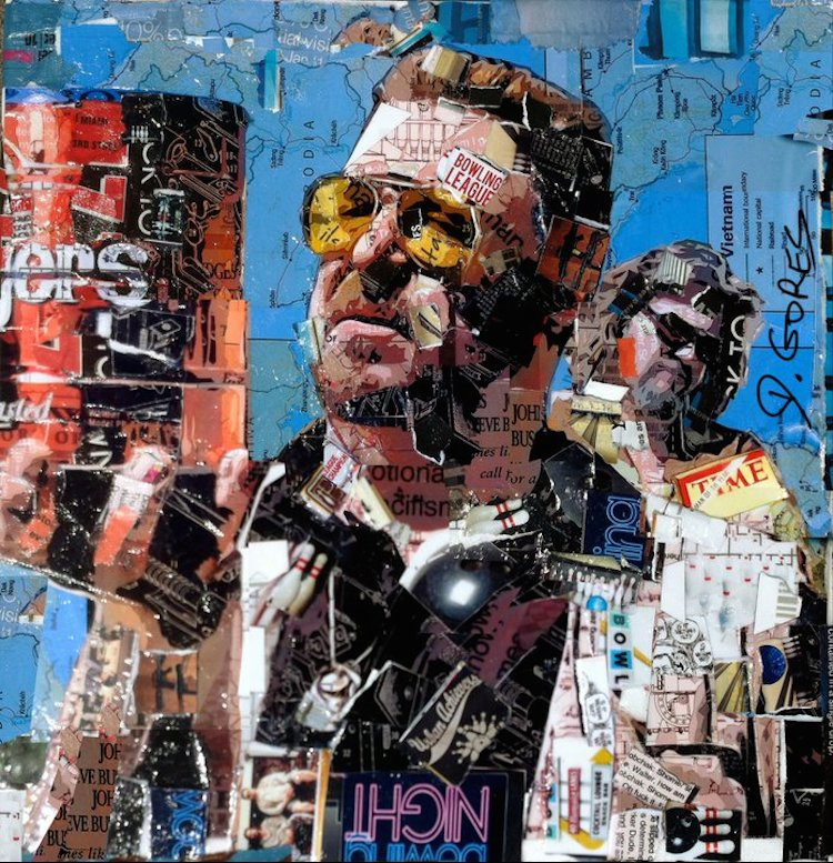 © Derek Gores |  Collage manual | Arte a un Click