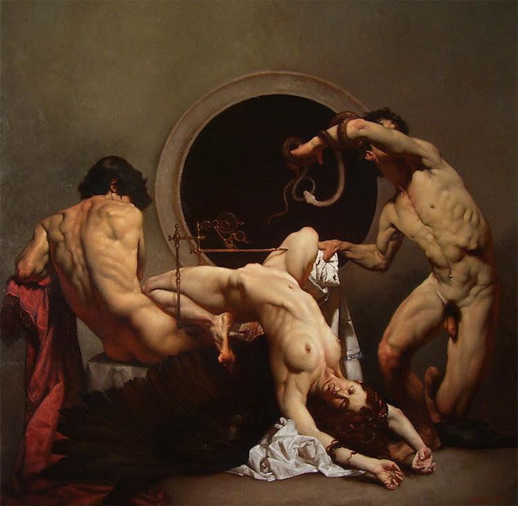 © Roberto Ferri | claroscuro | Erotismo | pintura | Arte a un Click