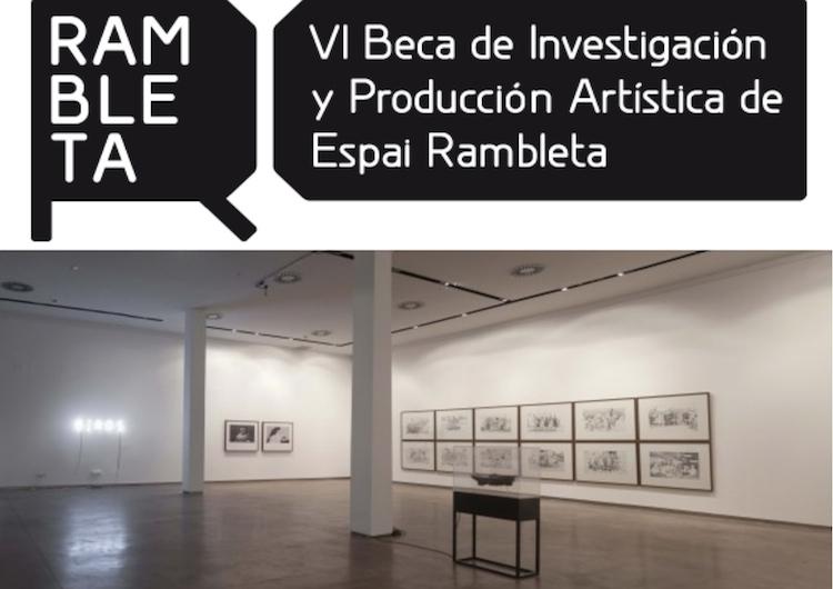 Convocatoria | Rambleta | Beca Creación | Arte a un Click