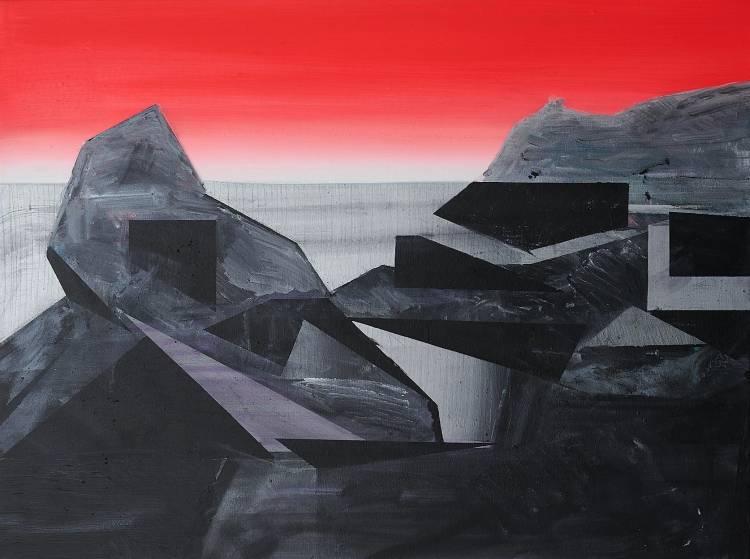 Urvanity Art Fair FousionGallery_PhilAshcroft Blue Lagoon Abereiddy 2 (Landscape) aoc 102x76cm 2020 Photo TobiJenkins GBP2200 ARTE A UN CLICK