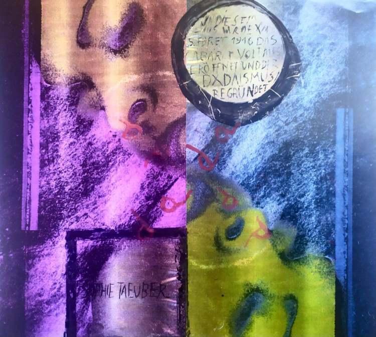 Café Cabaret Voltaire   Blanco Negro y Magenta   exposición online   Arte a un Click
