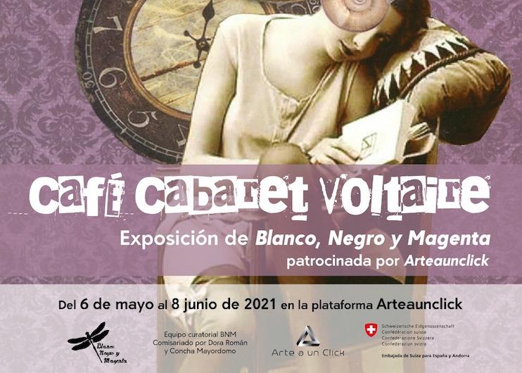 Café Cabaret Voltaire | Blanco Negro y Magenta | exposición online | Arte a un Click Almudena Armenta, Amazona I, de la serie Tres Reinas