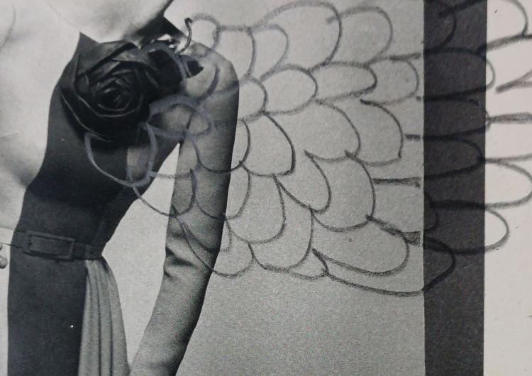 Café Cabaret Voltaire | Blanco Negro y Magenta | exposición online | Arte a un Click María Jesús Manzanares, Mujer sin rostro