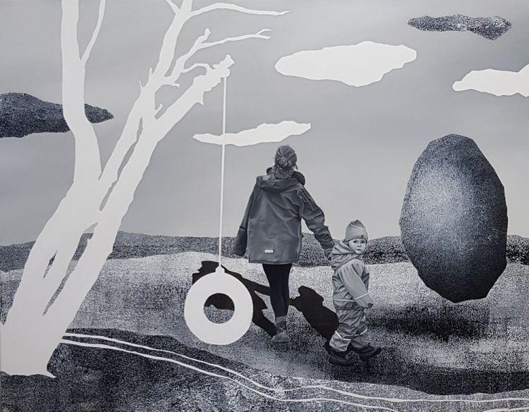 Lukas Kubala, In another time, 2020. Óleo sobre lienzo. 100 x 130 cm. Kahn Gallery. Huntress of Art