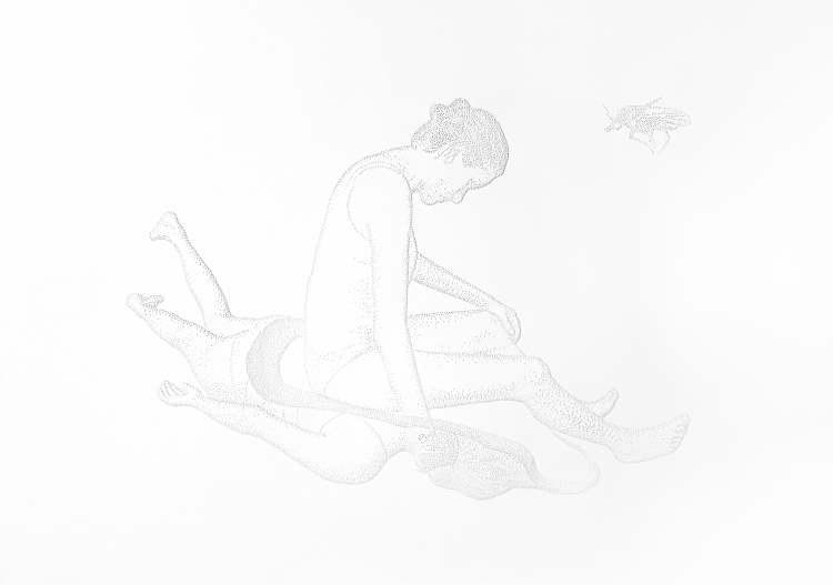 Sin título. Serie Reacciones precarias, 2019. Papel perforado. 32,5 x 46 cmAmparo Sard | DA2 Domus Artium 2002 |Arte a un click